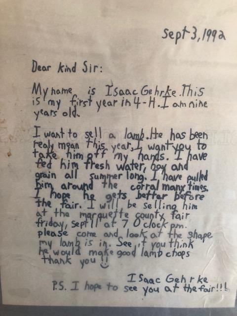 Sale letter